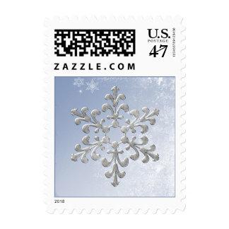 Winter Wedding Postage Stamp