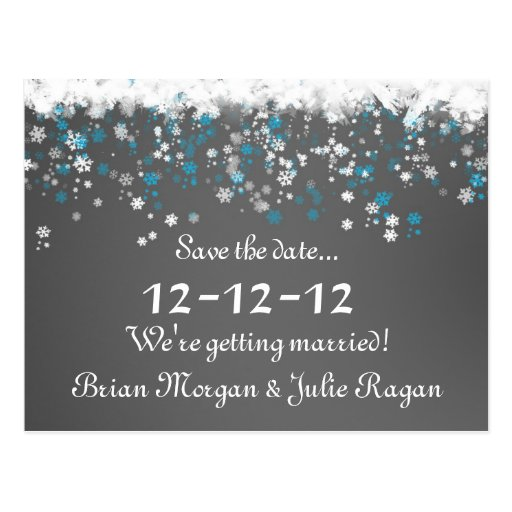 winter wedding postcard