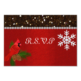 WINTER Wedding R.S.V.P CARD MATCHING INVITATION