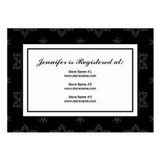Winter Wedding Registry Card in B&W Large Business Cards (Pack Of 100)
