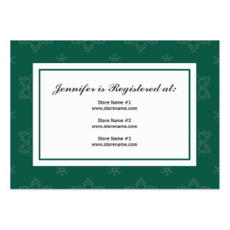 Winter Wedding Registry Card in Pine Large Business Cards (Pack Of 100)