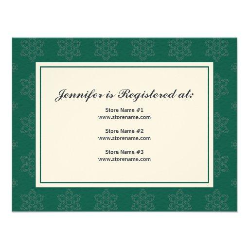 Wedding Registry On Invitation Wedding Invitations Stationery