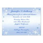 Winter Wedding Rehearsal Dinner Custom Announcement