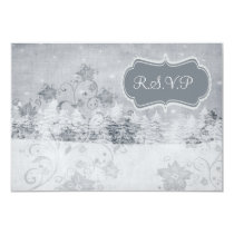 winter wedding rsvp cards standard 3.5 x 5