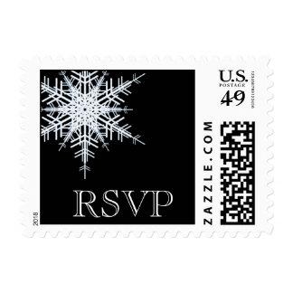 Winter Wedding RSVP Stamp