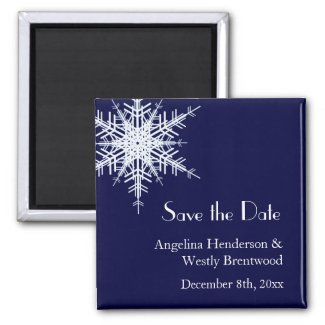 Winter Wedding Save the Date Magnet magnet