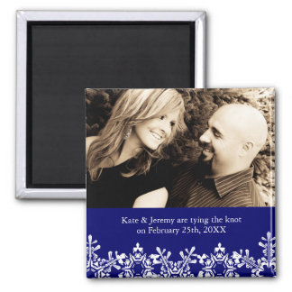 Winter Wedding Save the Date Fridge Magnet