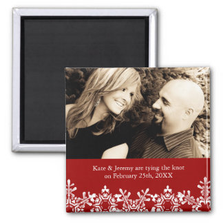 Winter Wedding Save the Date Refrigerator Magnet