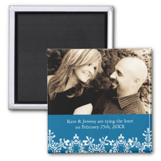 Winter Wedding Save the Date Refrigerator Magnets