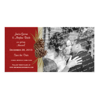 Winter Wedding Save the Date Photo Card