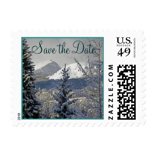 Winter Wedding Save the Date Postage Stamp