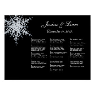 Winter Wedding Seating Chart Poster