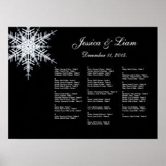 Winter Wedding Seating Chart Print