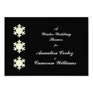 """Winter Wedding Shower"" w/ Snowflakes Card"