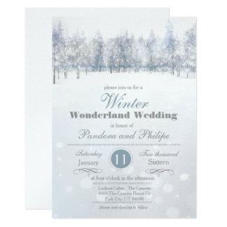 Winter Wedding Snow Tree Invitation