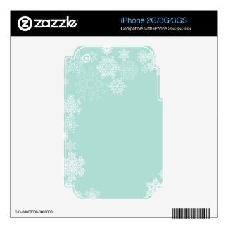 Winter Wedding Snowflake Background.jpg Decals For The iPhone 2G