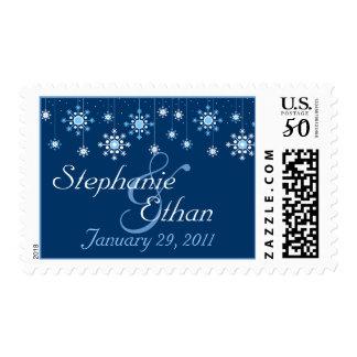Winter Wedding Snowflakes Personalized Postage