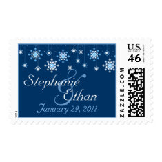 Winter Wedding Snowflakes Personalized Postage