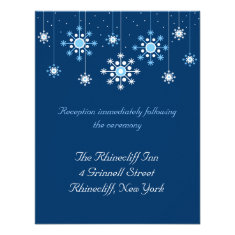 Winter Wedding Snowflakes Reception Card Announcement