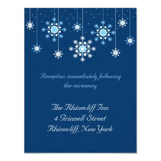 Winter Wedding Snowflakes Reception Card Announcement