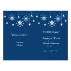 Winter Wedding Snowflakes Wedding Program Flyer