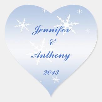 Winter Wedding Stickers