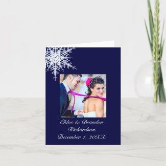 Winter Wedding Thank You Card card