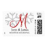 Winter Wedding USPS Postage Stamp Customizable