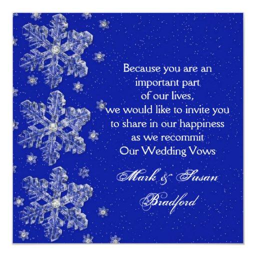 Winter Wedding Vow Renewal Inviation