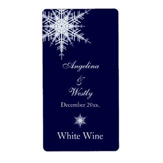 Winter Wedding Wine Label label