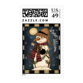 Winter Welcome Postage Stamps