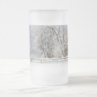 Winter - Westfield, NJ - Snow Day Frosted Glass Beer Mug