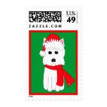 Winter Westie Stamp