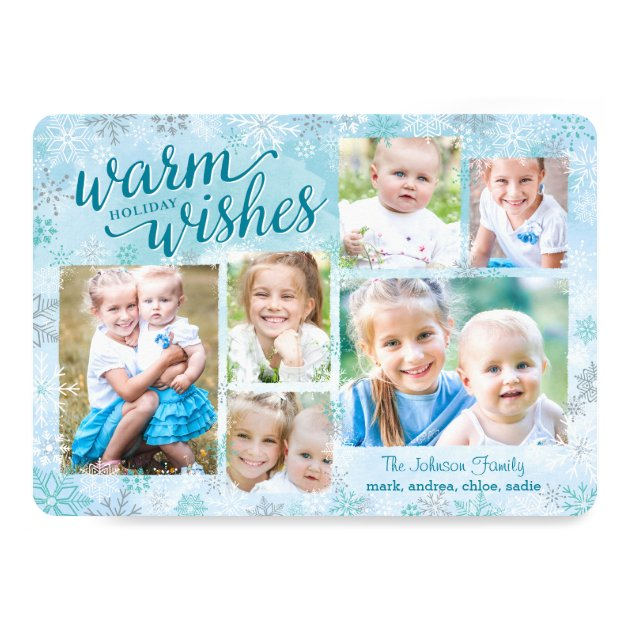 Winter Whimsy Collage Holiday Photo Cards