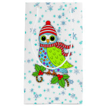 Winter Whimsy Owl Small Gift Bag
