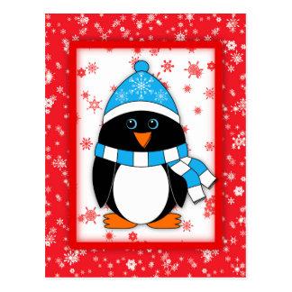 Winter Whimsy Penguin Postcard