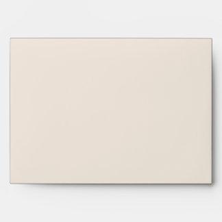 Winter White and Blue Wedding Envelope