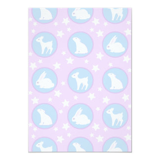Winter White Animals With Stars Art Pattern Card