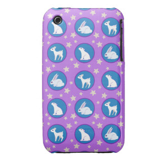 Winter White Animals With Stars Art Pattern iPhone 3 Case-Mate Cases