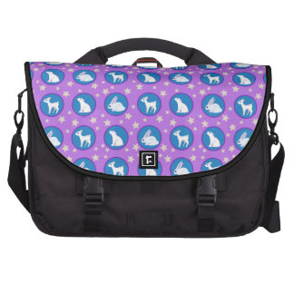 Winter White Animals With Stars Art Pattern Commuter Bags