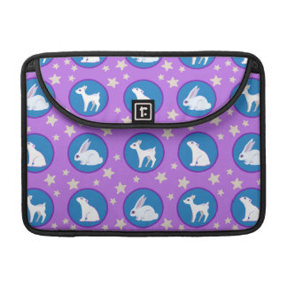 Winter White Animals With Stars Art Pattern Sleeve For MacBook Pro