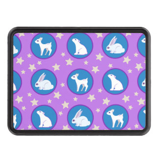Winter White Animals With Stars Art Pattern Tow Hitch Cover