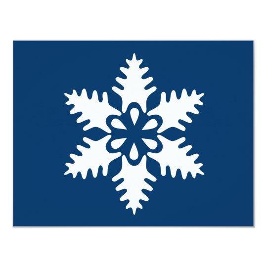 Winter White Christmas Snowflake Card