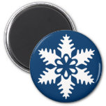 Winter White Christmas Snowflake Refrigerator Magnet