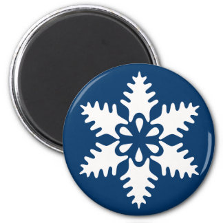 Winter White Christmas Snowflake Magnet