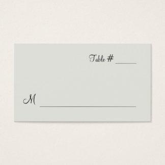 Winter White Escort Place Card