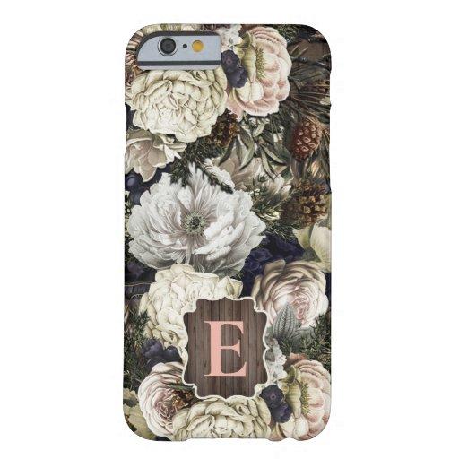 Winter White Floral Monogram iPhone Case