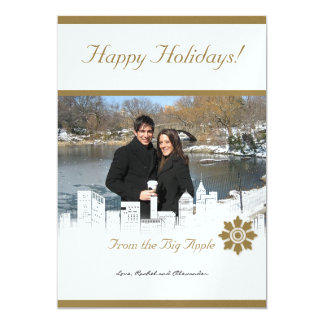 Winter White in New York Holiday Photo Card