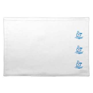 Winter white julbordstablett blue scenery snow old cloth placemat