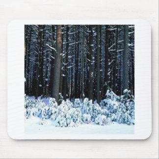 Winter White Pine Trees Pocono Mountains Mouse Pad